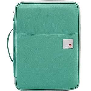 TINTON LIFE 多功能防水旅行 A4 文件包拉链袋收纳袋适用于 Ipads/Notebooks/Pens/文件 绿色