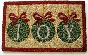 Geo Crafts G617 PVC 背衬可可门垫,Joy 装饰品