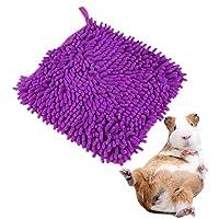 Amakunft 方形毛绒豚鼠枕头,舒适雪尼尔仓鼠糖滑翔刺猬睡床,兔笼子配件垫