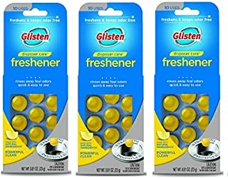 glisten dplm12t disposer care disposer 和排水管 freshener-0.81液体 ounces-lemon 味 disposal 异味去除剂 3 Pack
