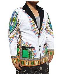 RaanPahMuang 男士时尚内衬棉西服夹克自信非洲大喜吉艺术