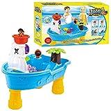 儿童海盗船水桌 - 幼儿海盗船沙/水桌 - 可拆卸的腿子 - 勺子- 杯子和桶 - 室内和室外儿童玩具套装