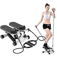 ZHCCCJBOY 健身楼梯踏板迷你踏板健身器可调节楼梯踏板带阻力带 LCD 显示健身锻炼机室内锻炼
