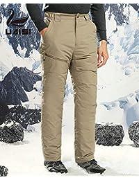 90% 白鹅绒裤UAISI男女情侣滑雪羽绒裤冬季加厚保暖外穿棉裤修身户外休闲长裤