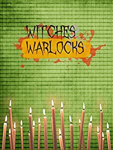 Witches and Warlocks Halloween Flag 多色 大