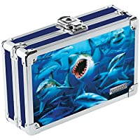 Vaultz 3D Lenticular Locking Pencil Box, 5.5 x 8.25 x 2.5 Inches, Sharks (VZ00292)
