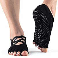 ToeSox Grip Pilates Barre 袜 - 防滑 Elle 半趾 适用于瑜伽和芭蕾
