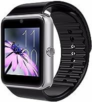 CNPGD 多功能电话手表,安卓 IOS 智能电话同步手表 GT-Silver