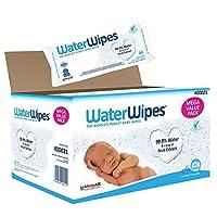 WaterWipes 婴儿湿巾,99.9%的纯净水,12x60片湿巾(720片湿巾)