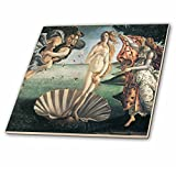 3dRose ct_127039_1 Birth of Venus by Sandro Botticelli Ceramic Tile, 4-Inch