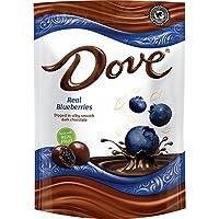 DOVE 水果巧克力零食袋 Dark Chocolate & Real Blueberries 6-oz. Bag (Pack of 8)