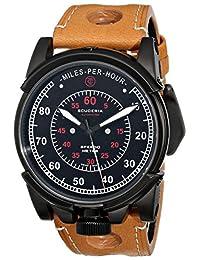 CT Scuderia 男式 CS10214 模拟显示瑞士自动棕色手表