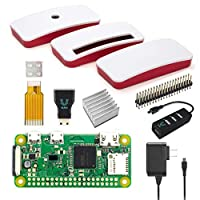 Raspberry Pi Zero W 全套初學者套裝 - 官方版 - 包括 Pi Zero W 和 7 個基本配件