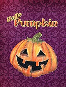 Caroline's Treasures Hello Pumpkin Halloween Flag Made or Printed in the USA 多色 大