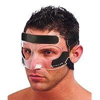 Mueller 运动*面部防护,免受冲击伤害,鼻子和面部,透明,均码
