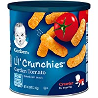 Gerber嘉宝Graduates Lil'松脆巧克 番茄口味 1.48 盎司罐(41.96克) (6 包)