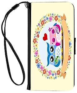 Rikki Knight iPhone 6 & 6s PU 钱包翻盖保护套RK-Flip6iPhone9258 Happy Chevron Family with Decorated Floral