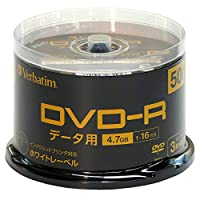 Verbatim 巴贝塔 1次记录用 许可证 202004DHR47JP50SV2-B  50枚パック(スピンドル)