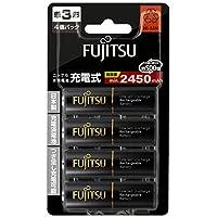Fujitsu 富士通 HR-3UTHC(4B) 含日本原装5号镍氢充电电池AA×4