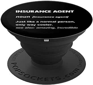 保险代理礼品 PopSockets 手机和平板电脑握架260027  黑色