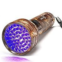 Escolite 防紫外线手电筒黑色灯,51 个 LED 迷彩 395 纳米紫外线黑光探测器,适用于宠物狗尿、干污渍和床虫,蝎子狩猎的手持手电筒