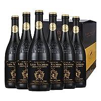胜利雄狮 金狮干红葡萄酒750ml*6支 整箱热卖 12个月橡木桶陈酿 醒酒时间30分钟以上