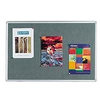 Q Connect 毛毡-画布/防震板 900 x 600 毫米 带铝框,灰色
