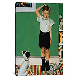 iCanvasART 1538-1PC6 He's Going to Be Taller Than Dad Canvas Print by Norman Rockwell, 1.5 by 26 by 18-Inch