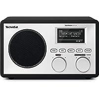 TechniSat DIGITRADIO 301 IR 数字收音机,带无线局域网,网络收音机,DAB 数字广播 + FM 调频,UPnP 播放,闹钟和贪睡功能,黑色