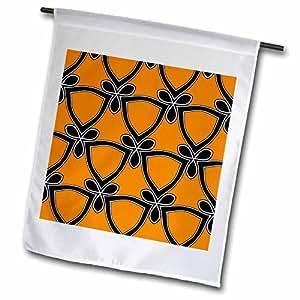 tnmgraphics 艺术装饰 PLUS–图案橙色和蓝色–旗帜 12 x 18 inch Garden Flag
