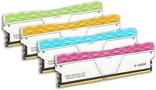 V-Color Prism II RGB 32GB (4 x 8GB) DDR4 3600MHz (PC4-28800) 桌面内存模块化 RAM (TL8G36818C-E0P2SRBOFQ)