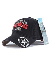 Jeep 1941 中性可调节水平棒球帽水洗染色棉球帽