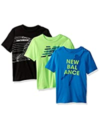 New Balance 男孩3件装图案 t 恤