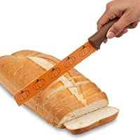 "Maui Mike 面包和生产刀。 *佳锯齿蛋糕,产品,面包,素食刀 橙色 8"" Blade"