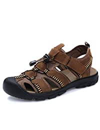 GUSUO 时尚真皮大码男士凉鞋 简约舒适沙滩鞋 溯溪鞋 男士休闲鞋 意式男士皮鞋112687