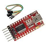Miteko FT232RL 3.3V 5.5V FTDI USB 到 TTL 串行适配器模块用于 Arduino 迷你端口