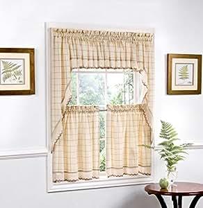 厨房窗帘套装 包括波幔和帘片