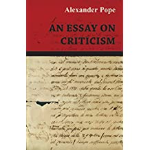 An Essay on Criticism (English Edition)
