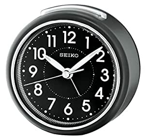 Seiko 模拟时钟黑色塑料 QHE125K