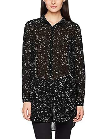 ICHI 女士衬衫 黑色 38 (Herstellergröße: M)