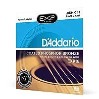 D'Addario EXP 16涂层荧光粉青铜*浅原声 strings