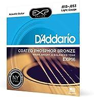 D'Addario EXP 16涂層熒光粉青銅*淺原聲 str
