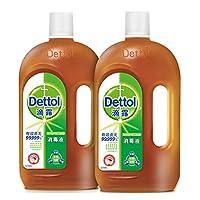 Dettol 滴露 消毒液1.15L+1.15L超值特惠两瓶装 与洗衣液,柔顺剂配合使用(亚马逊自营商品, 由供应商配送)