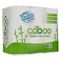Caboo - 100% Bamboo and Sugarcane 2-Ply Paper Towels 115 Sheets - 6 Roll(s)