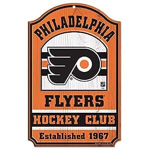WinCraft NHL Philadelphia Flyers 20753014 木标志,27.94 x 43.18 厘米,黑色