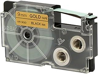 Casio EZ-Label Printer XR-9GD1 Label Tape 自粘标签 9 mm x 8 m 黑色