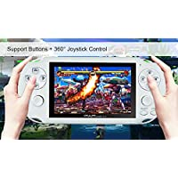 "Handheld Game Console, 650 Classic Games 4.3"" 64 Bit Portable Game Console PAP-GametaII Support GBA/GBC / SEGA/NES / SFC/NEOGEO -White"