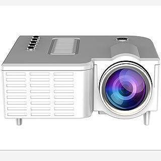 迷你视频投影仪,手机视频投影仪,便携式智能手机视频投影仪,支持高清1080P,适合家庭和旅行娱乐 白色