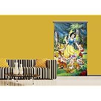 AG 设计迪士尼雪白公主儿童房间窗帘半透明,多色,140 x 245厘米