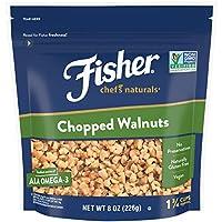 FISHER Chef's Naturals Chopped Walnuts, No Preservatives, Non-GMO, 8 oz